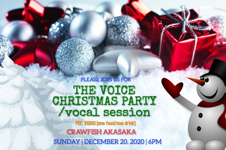 The Voice Music Christmas  Party/Vocal Session  12.20 SUN